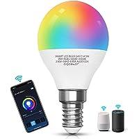 Aigostar Smart WiFi-bulb G45 E14-fitting, werkt met Alexa en Google Home, van kleur te veranderen, 5W LED-lampen…