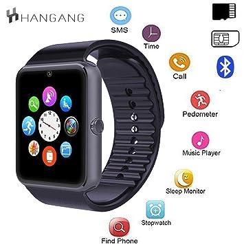 hangang Smartwatch Pantalla táctil Bluetooth Pulsera Reloj con ...