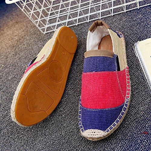 Unisex Basse Scarpe Espadrillas Colore Rosso Moda Comfort Casuali Flats Slip On Colpisci Cinese r5rwq8