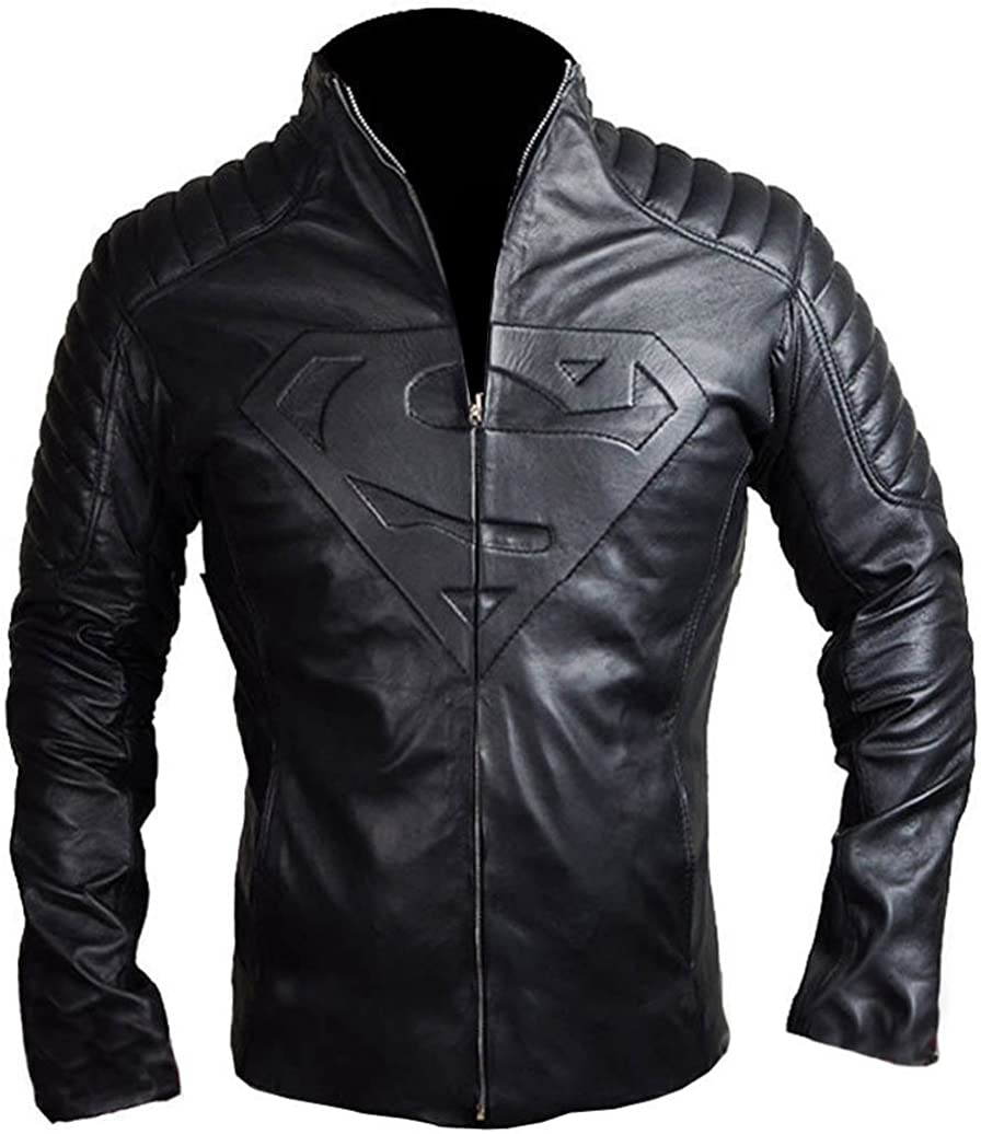 NMFashions Black Motorcycle Biker Slim Fit Synthetic Leather Jacket