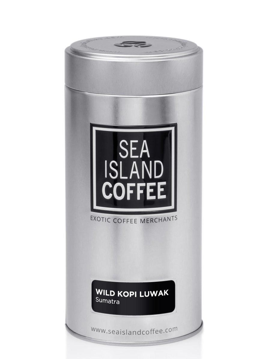 Wild Kopi Luwak, Northern Sumatra - Cafetiere Grind Coffee (8.8 Oz Tin)