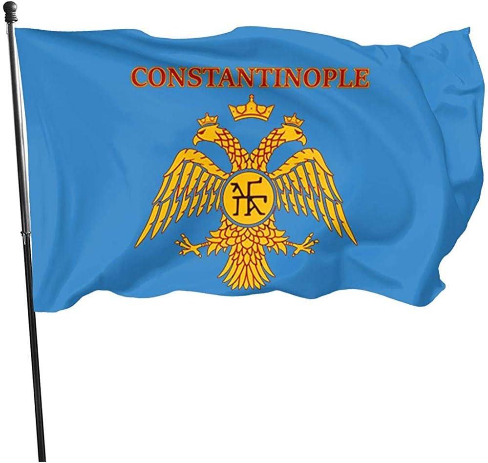 House Yard Flags, Constantinopla, Imperio Romano del Este, Bandera Bizantina, Banderas con Encanto En El Hogar para La Decoración De Bienvenida De La Casa 180cmx120cm: Amazon.es: Jardín