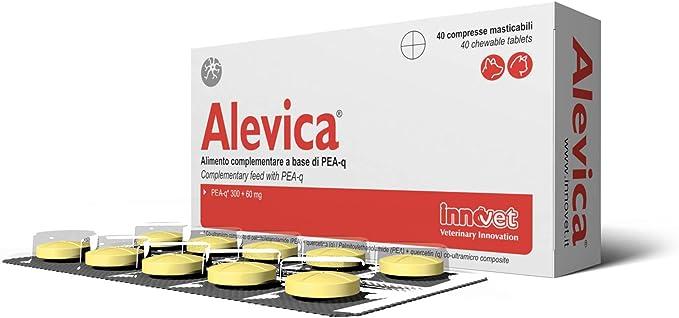 Image of Innovet Alevica - Alimento complementario a base de PEA-q para perros y gatos - Paquete de 40 comprimidos masticables