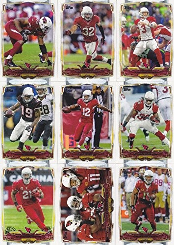 Arizona Cardinals 2014 Topps NFL Football Complete Regular Issue 15 Card Team Set Including Carson Palmer, Patrick Peterson, Larry Fitzgerald and Others (Cardinals Card Football)