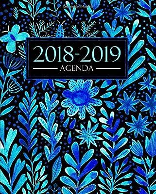 Agenda 2018-2019: 1 de septiembre, 2018 - 31 de agosto, 2019: 190 x 235 mm : Agenda 2018-2019 semana vista español : 160 g/m² : Agenda semanal 12 meses: Bonitas flores azules en acuarela: Amazon.es: Papeterie Bleu: Libros