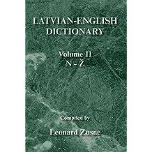 Latvian-English Dictionary: Volume Ii N-Z