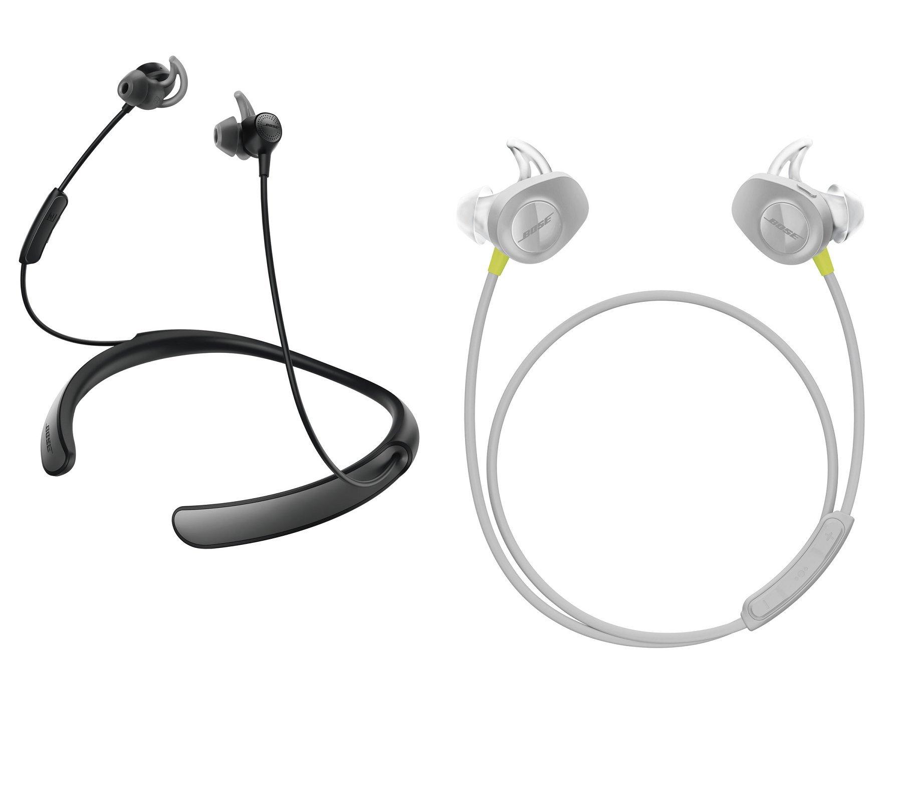Bose Bluetooth Headphone Bundle - SoundSport Wireless Citron & QuietControl 30 Black In-ear Headphones