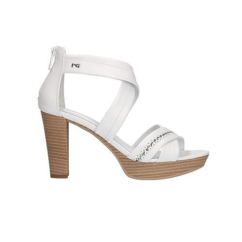 d1480dcd1 Nero Giardini P805610D - Sandalias de Vestir Para Mujer Blanco Bianco   Amazon.es  Zapatos y complementos