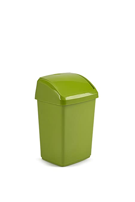 Merveilleux 10 Litre Lime Green Plastic Rectangle Waste Swing Bin