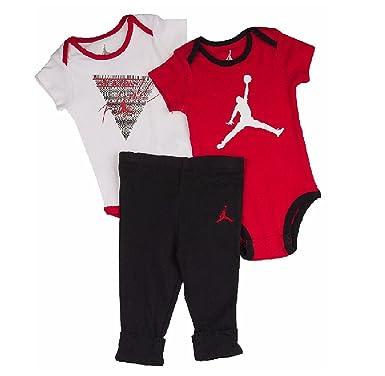 d2e58861087 Amazon.com: Nike Jordan Infant Boys 3-Piece Shorts and Bodysuit Set ...