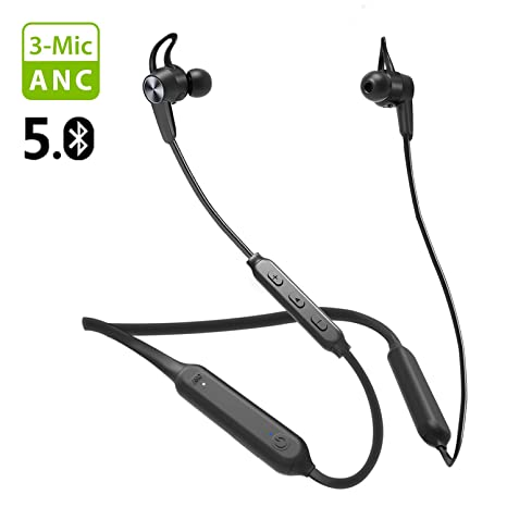 Best Bluetooth Earpiece 2020.2020 New Avantree Nb17 Bluetooth 5 0 Neckband Active Noise Cancelling Earbuds Anc Headphones With 3 Microphones Ipx5 Waterproof Earphone With Cvc