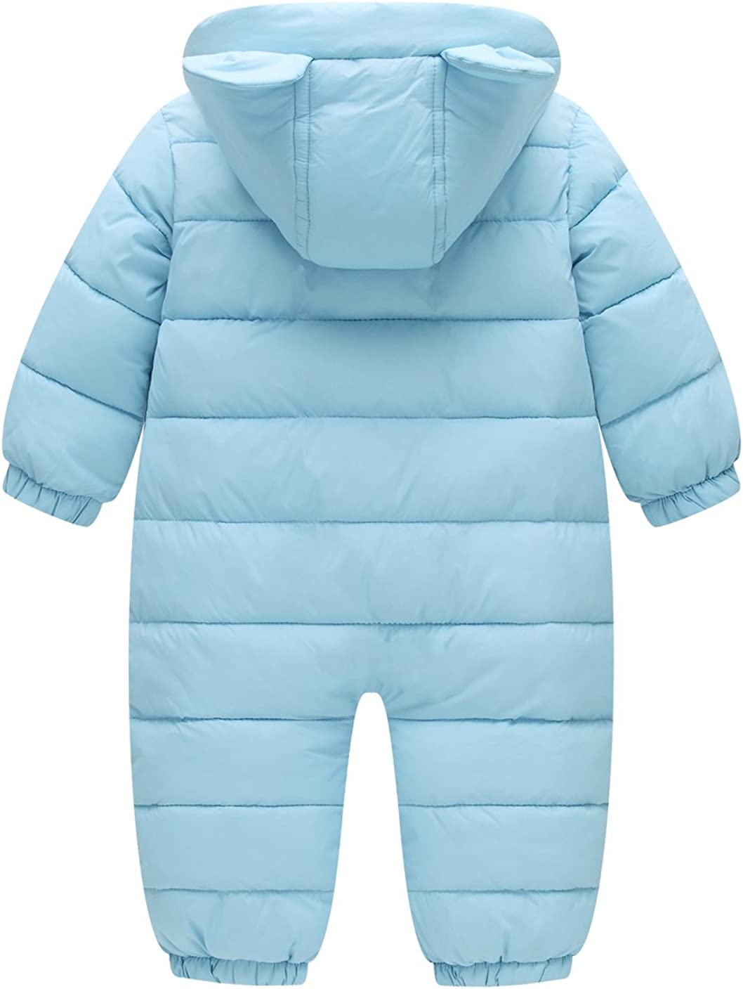 2 Pcs Baby Boy Girl Snowsuit Windproof Round Neck Down Jacket Snow Puffer Down Pants