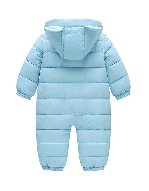 858be6f9c Amazon.com  Happy Cherry Toddler Cotton Romper Baby Winter Coat ...