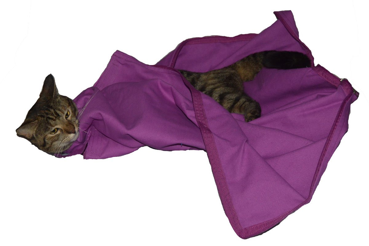 Cat-in-the-bag Cozy Comfort (E-Z Zip) Carrier Large, Lavender