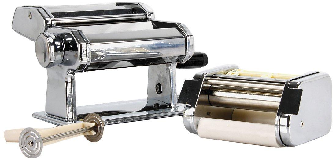 Equinox 511481 - Macchina per fare la pasta e i ravioli, in acciaio cromato