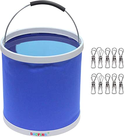 DUOFIRE Collapsible Bucket Foldable Water Bucket Portable Water Container Wash Basin for Fishing Travel Camping