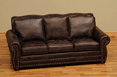 Ordinaire Fireside Lodge Furniture WDSOFA50 LTH Jerome Davis Collection Sofa,  Standard Leather
