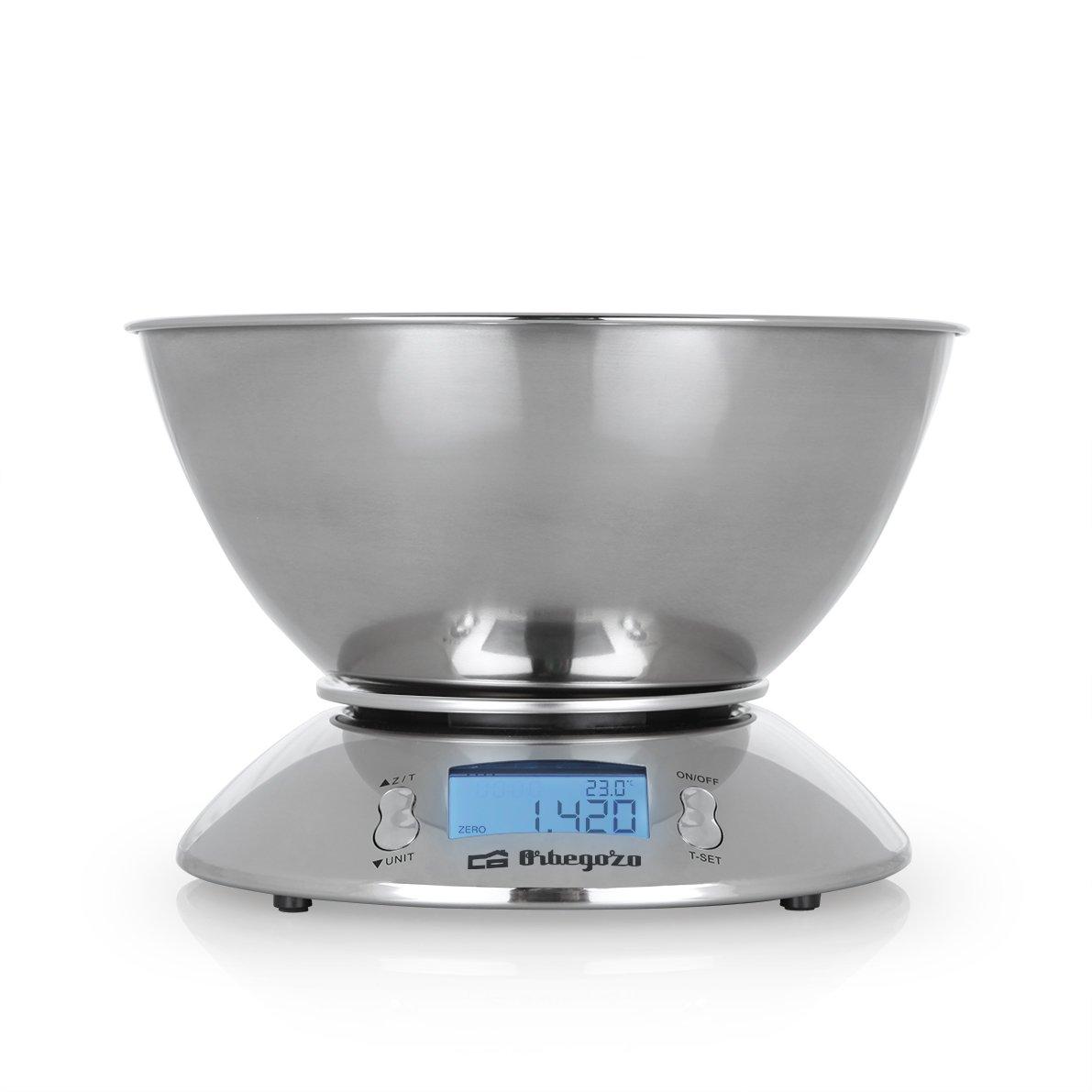 Orbegozo PC 2011 2011-Peso de Cocina electrónico, Acero Inoxidable: Amazon.es: Hogar