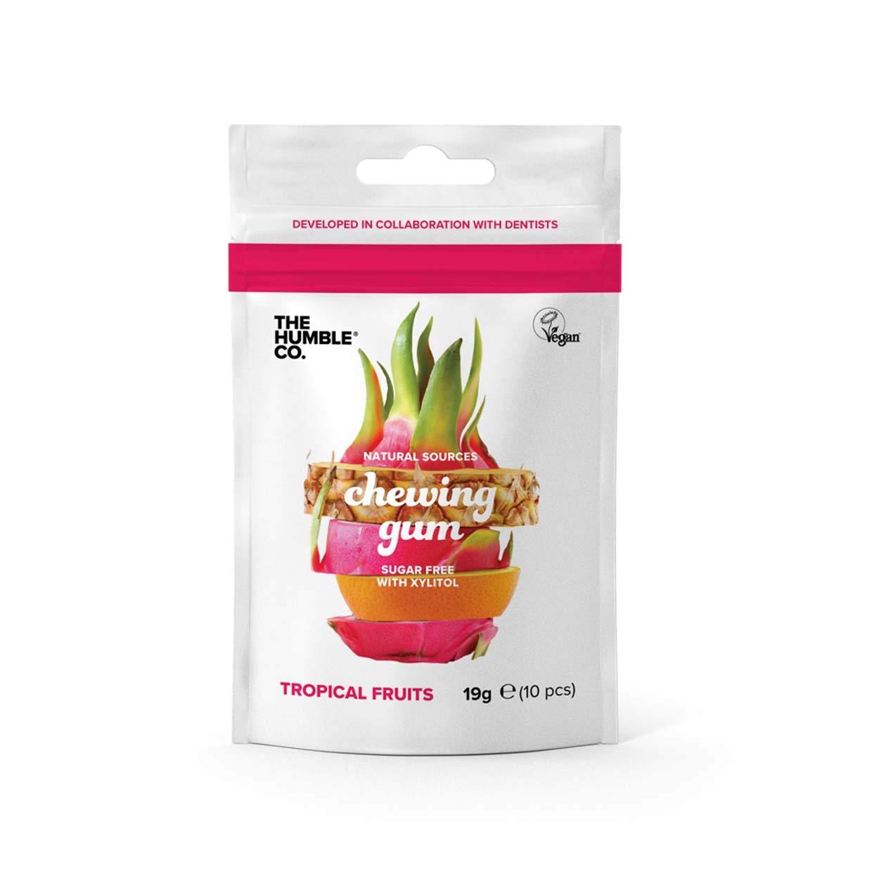 Humble Chewing gum Tropical Fruits - Goma para masticar (4 ...