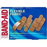 Band-Aid Flexible Fabric Adhesive Bandages, Assorted Sizes Value Pack, 80 Bandages