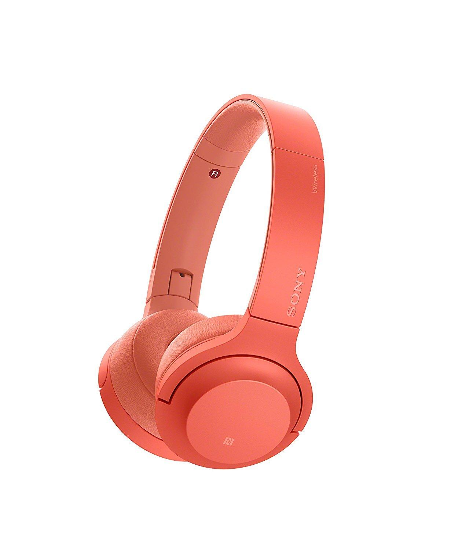 Sony WH-H800 h.ear Series Wireless On-Ear High Resolution Headphones (International version/seller warranty) (Red) by Sony