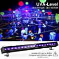 Onforu 45W UV LED Black Light Bar, 5ft Power Cord with US Plug and Switch, Glow in The Dark Party Supplies for Stage Lighting, Halloween, Body Paint, Fluorescent Poster, Birthday Wedding Party