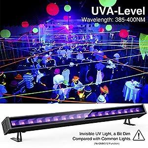 61vSOlZ9ULL. SS300  - Onforu-45W-Schwarzlicht-UV-LED-Bar-mit-EU-Stecker-Black-Light-Lichteffekt-Partylicht-Bhnenbeleuchtung-mit-Schalter-Geeignet-fr-Weihnachten-Halloween-Club-Party-Karneval-Disco-Ballsaal