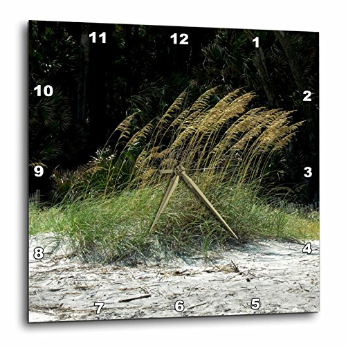 3D Rose Sea Oats Swaying in The Ocean Breeze Wall Clock