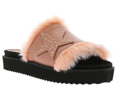 size 40 ae0c4 024a8 Heine Plateau Echtleder-Pantolette Sandalen Sandalette Damen ...