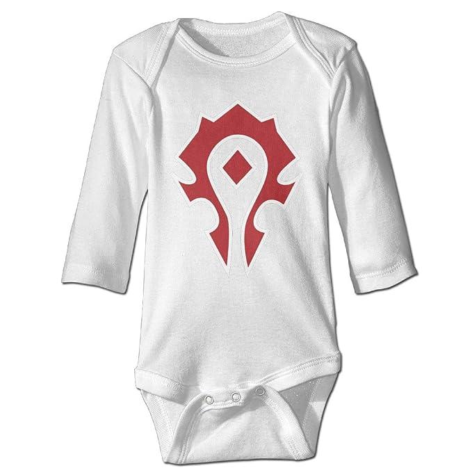 dbddabeb7 Long Sleeve World Of Warcraft Horde Spray Organic Baby Onesies For Baby Boys