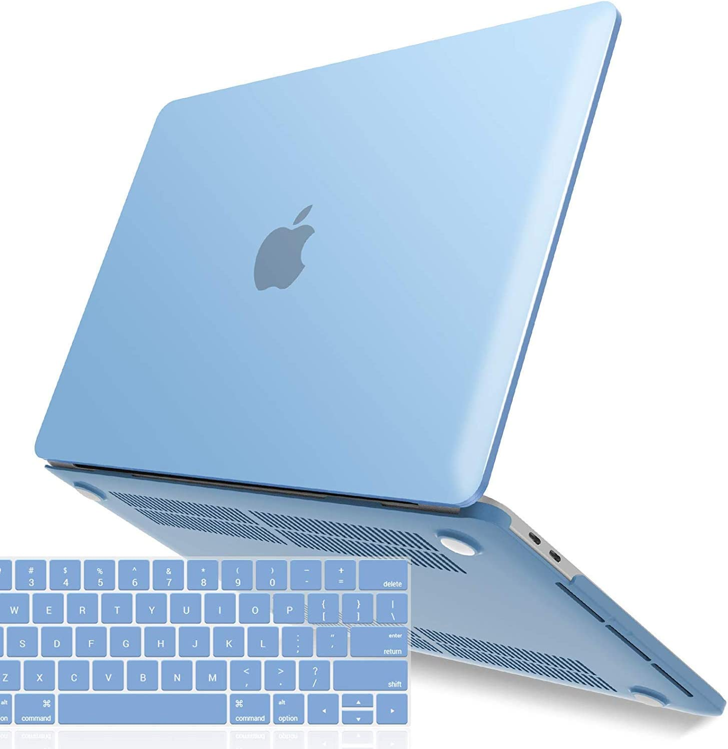 IBENZER New 2020 MacBook Pro 13 Inch Case M1 A2338 A2289 A2251 A2159 A1989 A1706 A1708, Hard Shell Case with Keyboard Cover for Apple Mac Pro 13 Touch Bar(2020-2016), Airy Blue, T13ARBL+1B