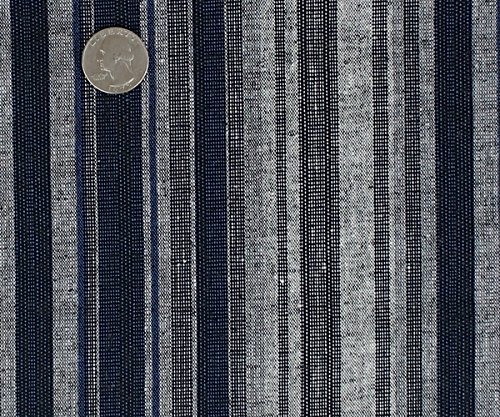 Color Blend Stripe Stretch Linen Fabric (Stretch Linen Blend)