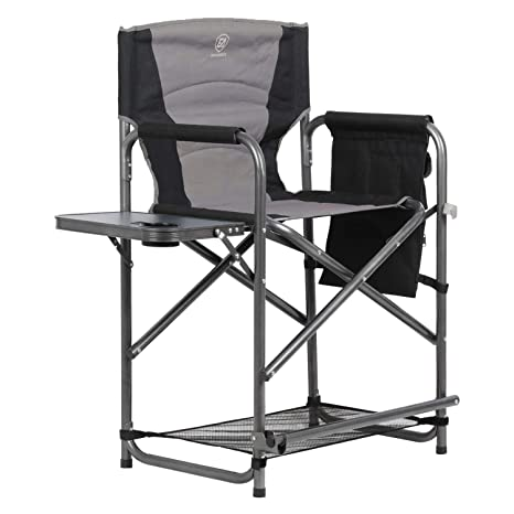 Excellent Ever Advanced Tall Directors Chair Bar Height Foldable Makeup Artist Chair With Side Table Cup Holder Side Storage Bag Footrest Supports 300Lbs Pdpeps Interior Chair Design Pdpepsorg