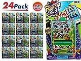 JA-RU Pinball Pocket Travel Game (24 Units) and one Bouncy Ball Item #3258-24p