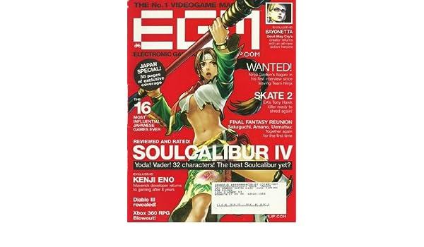EGM Electronic Gaming Monthly Magazine September 2008 Soul Calibur lV: Sam Kennedy: Amazon.com: Books