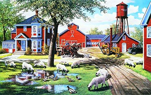 Farmyard Companions 550 Piece Jigsaw by (Farmyard Jigsaw)