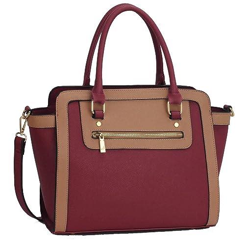 81ac280d2ee2 LEESUN LONDON Designer Handbags For Women Shoulder Bag Faux Leather Bag  Ladies Tote Bags Large (