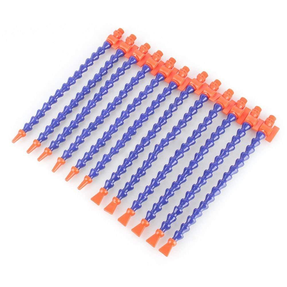 PRINTEMPS 12pcs Plastic Flexible Water Oil Coolant Pipe Hose CNC 1/4'' + Switch