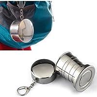 Acero inoxidable Portable Outdoor Travel Camping Plegable Plegable Copa del Metal Agua Por superjune