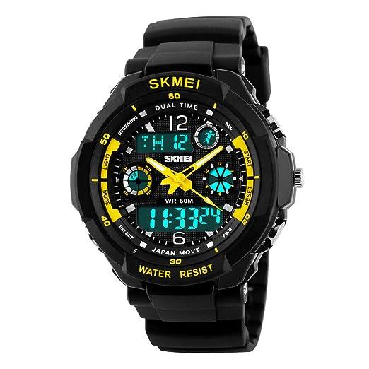 Farsler Reloj digital deportivo para niños, multifunción, digital, 50 m, resistente al