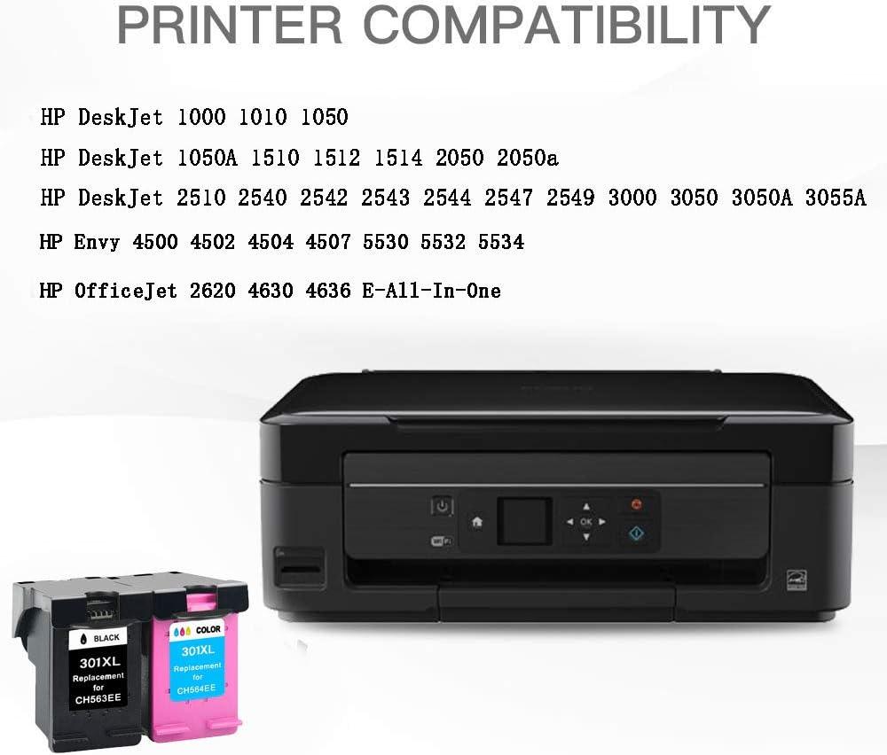 2x Remanufacturado Compatible Cartucho de Tinta HP 301 301XL para ...