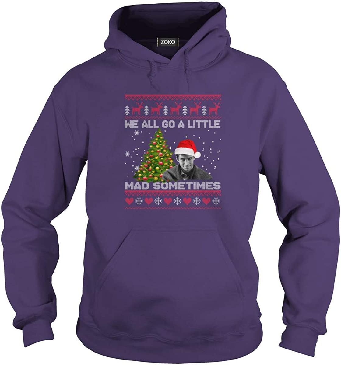 Zoko Apparel We All Go A Little Mad Sometimes Ugly Christmas T-Shirt