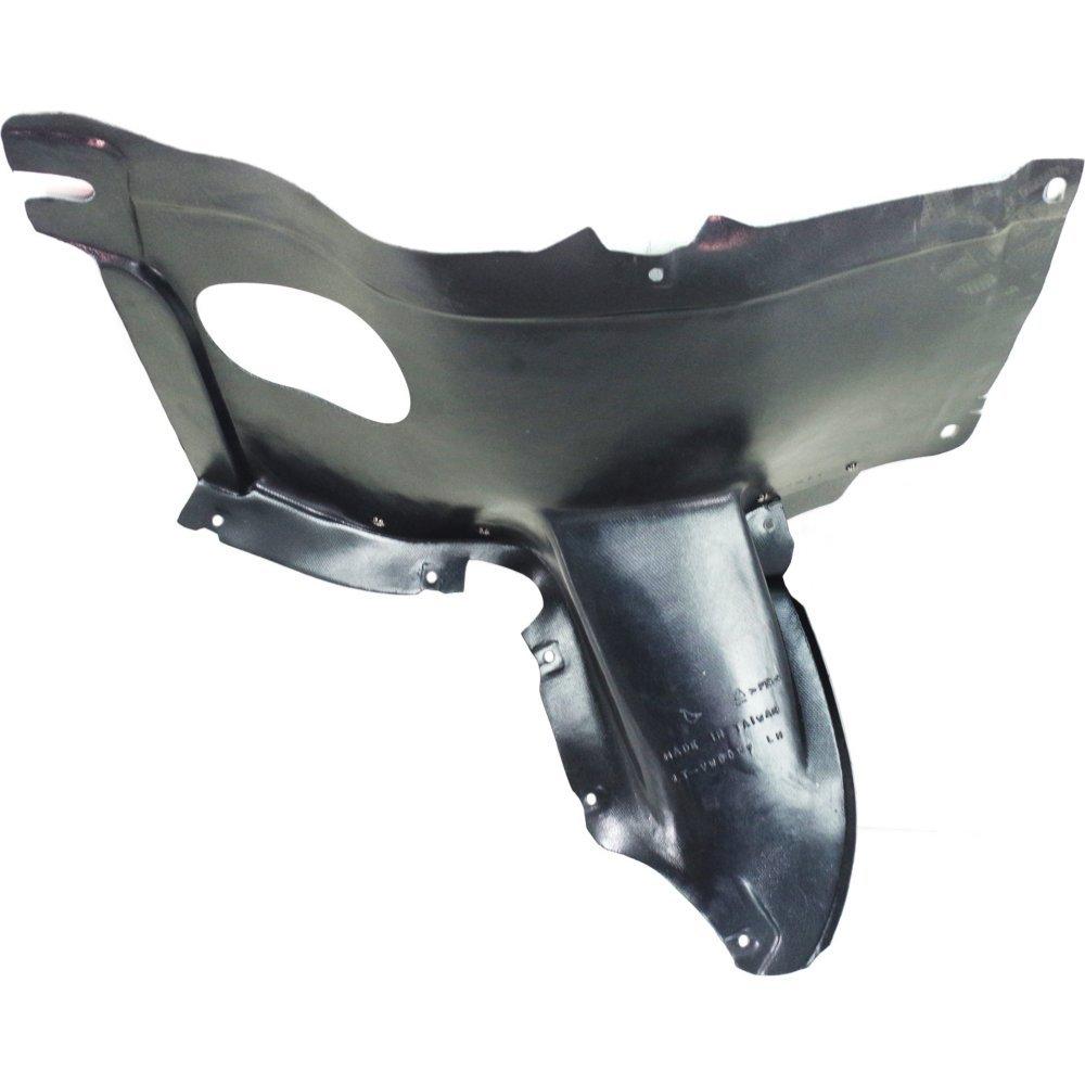 Evan-Fischer EVA18372052796 Splash Shield Front Left Side Fender Liner Plastic Front Section Hatchback for GTI 06-09 6 Speed
