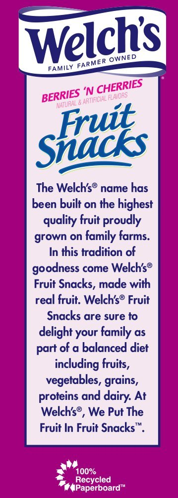 WELCH'S Berries 'n Cherries Fruit Snacks, 0.9 Ounce, 40 Count by Welch's (Image #4)