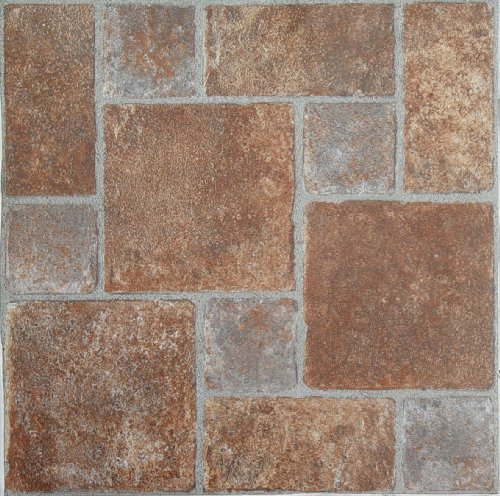 Achim Home Furnishings FTVGM33220 Nexus 12-Inch Vinyl Tile, Geo Brick Pavers, 20-Pack