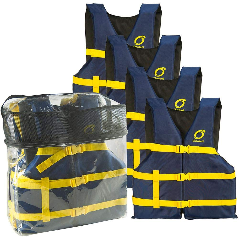 Gladiator Overton's Universal Adult Life Jackets 4-Pack, Blue by Gladiator