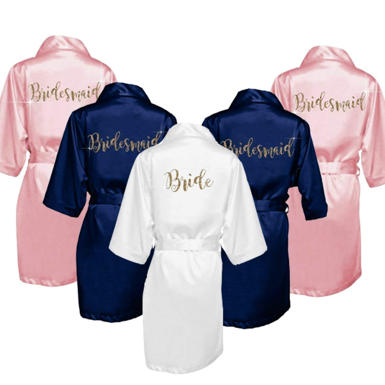 Personalized Bridesmaid Satin Kimono Robes Gift for Bridal Party