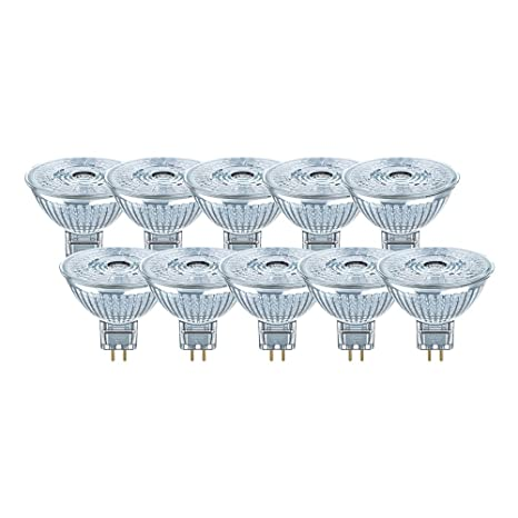Osram LED Superstar MR16, lámpara reflectora LED con portalámparas GU5.3, regulable,