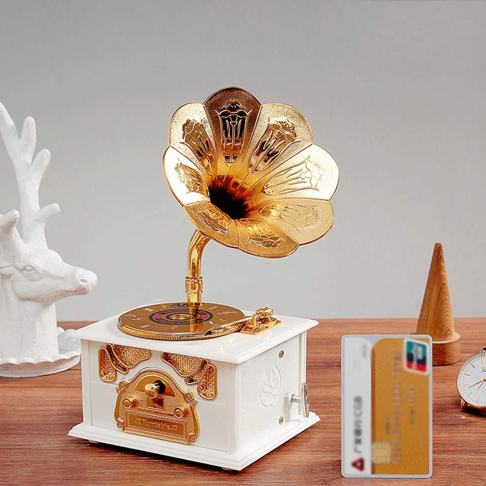 Mecanismo del fonógrafo Vintage Music Box Tocadiscos Antiguo ...