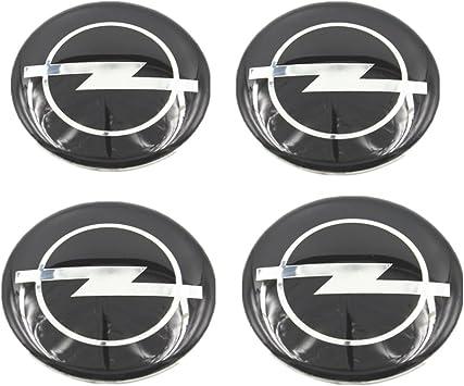 Aufkleber fur Radkappen Opel Logo Neu Imitation Mittelkappen 4 Stk 3D 53mm